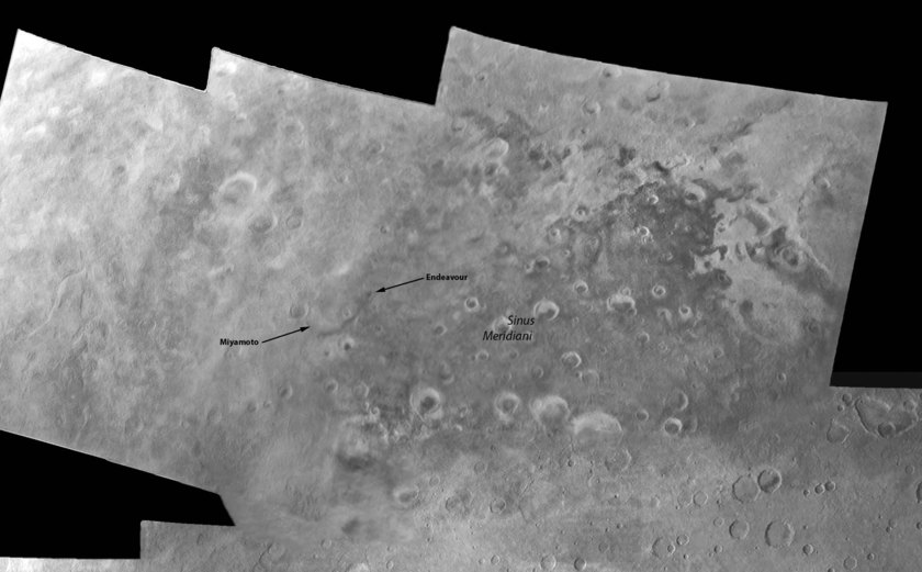 Mariner 6 and 7 mosaic of Sinus Meridiani