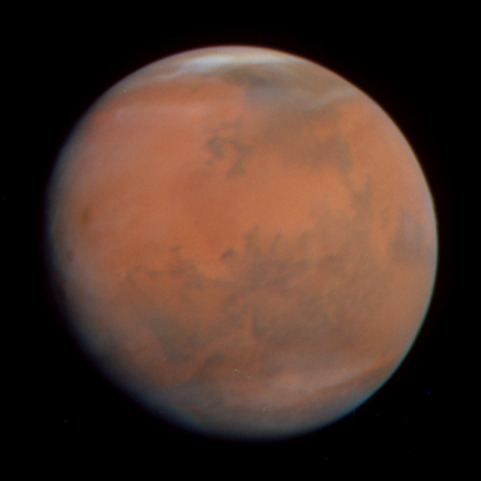 Mars from Hubble, January 2008