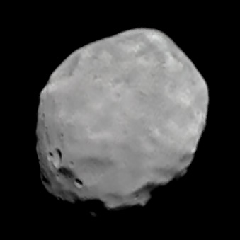 Phobos global view from Phobos 2, 25 March 1989