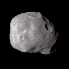 Phobos global view from Phobos 2, 28 February 1989