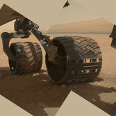 Curiosity's wheels firmly on Mars (MAHLI view, sol 34)