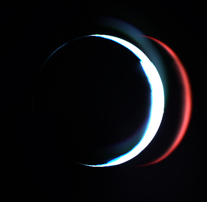 Crescent Mars from Rosetta