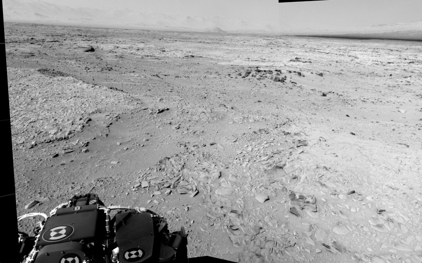 Curiosity Navcam panorama, sol 52 (partial)