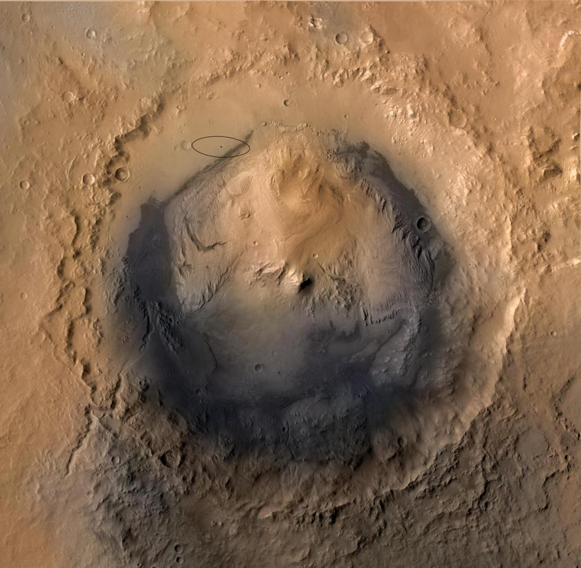 Curiosity's landing ellipse