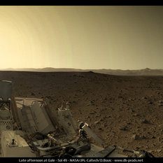 Late afternoon in Gale Crater, Curiosity sol 49
