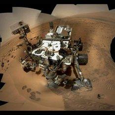 Preliminary version of Curiosity sol 84 self-portrait processed by Stuart Atkinson