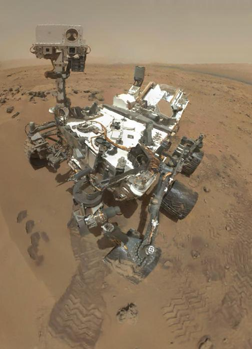 Preliminary version of Curiosity sol 84 self-portrait