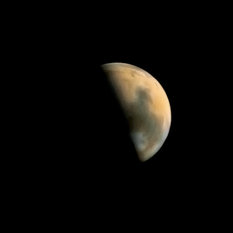 Mars from Mars Observer in color