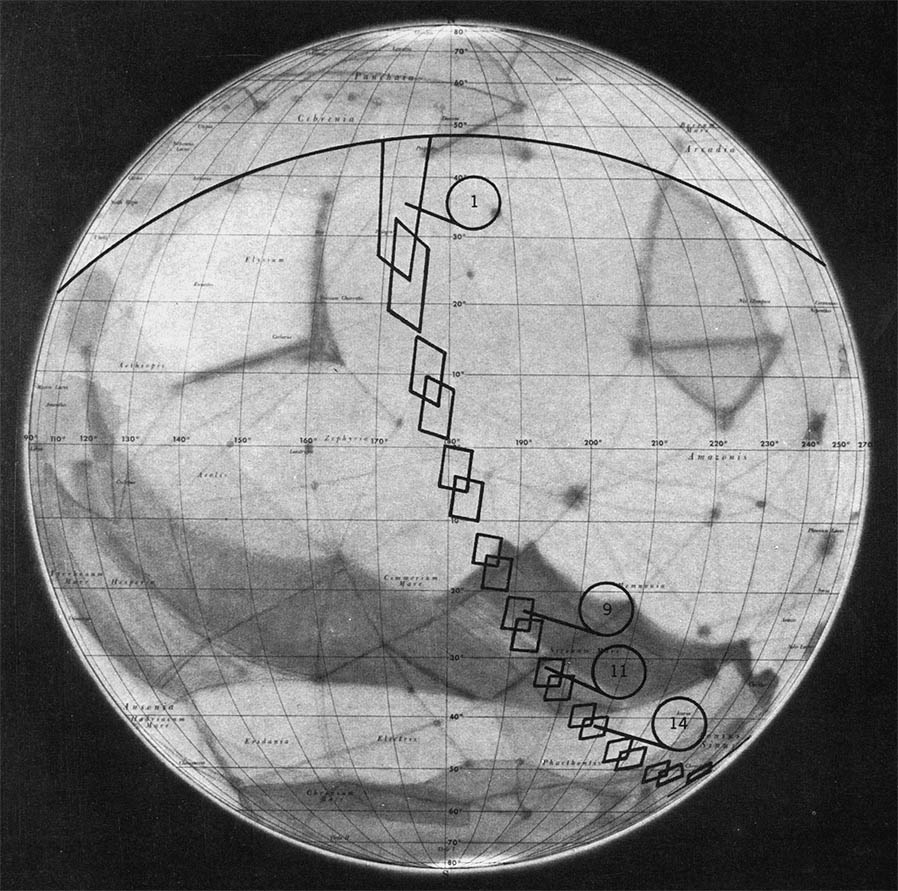Location map for the Mariner 4 Mars images | The Planetary ...
