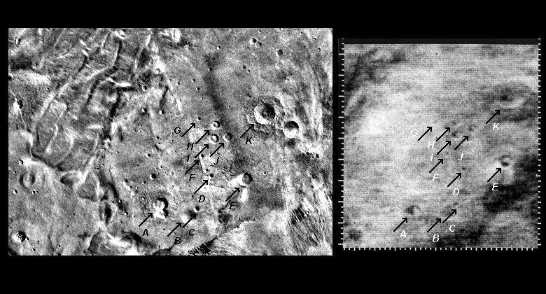 Mariner 4 image #5 compared with Viking