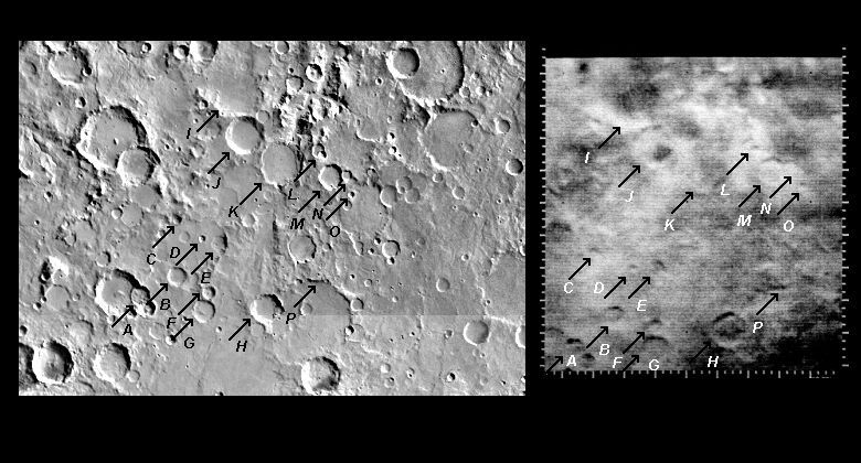 Mariner 4 image #7 compared with Viking