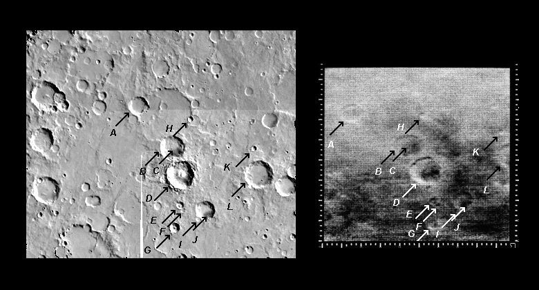 Mariner 4 image #8 compared with Viking