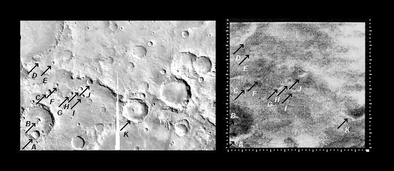 Mariner 4 image #12 compared with Viking