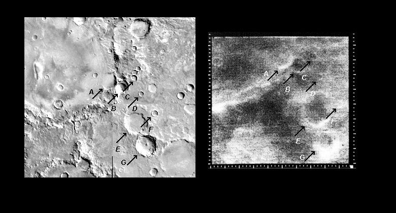 Mariner 4 image #13 compared with Viking
