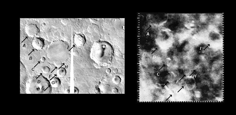 Mariner 4 image #14 compared with Viking