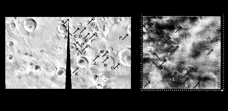 Mariner 4 image #15 compared with Viking