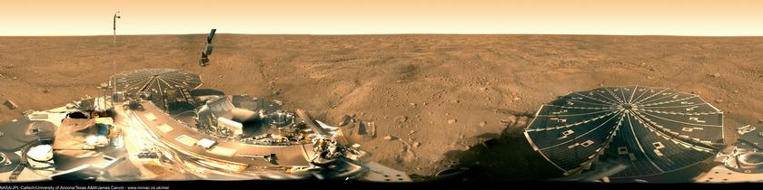 Phoenix mission success panorama (the