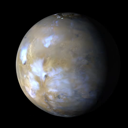 A Cloudy Day on Mars