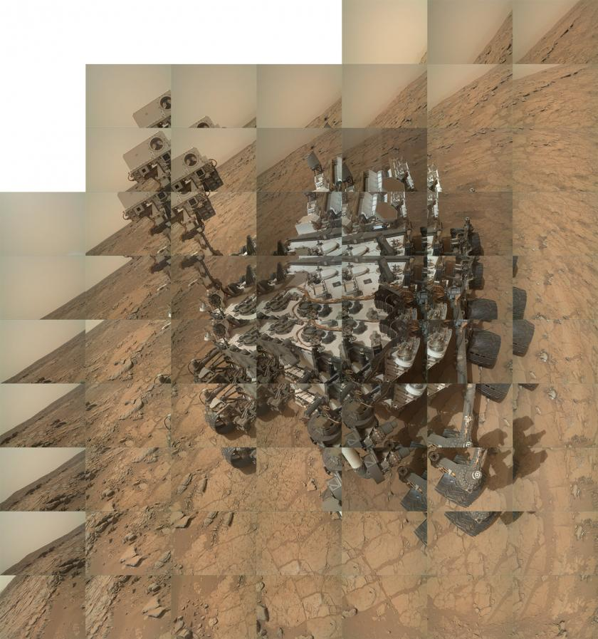 The making of a rover self-portrait