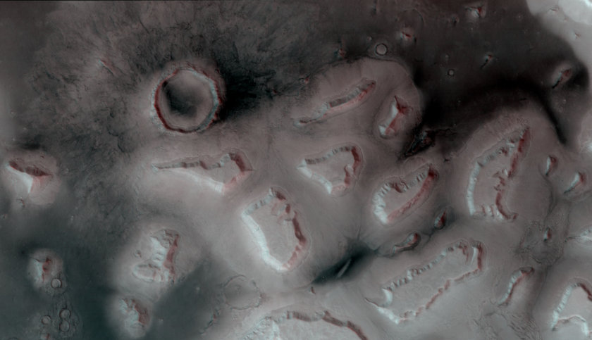 Aproned mesas in Deuteronilus Mensae, Mars (3D)