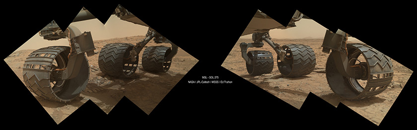 Curiosity MAHLI wheel self-portrait, sol 275 (May 15, 2013)