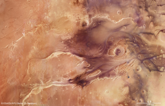 Kasei Valles, Mars, from Mars Express