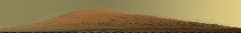 Mount Sharp (Mastcam-100 panorama, sol 45)