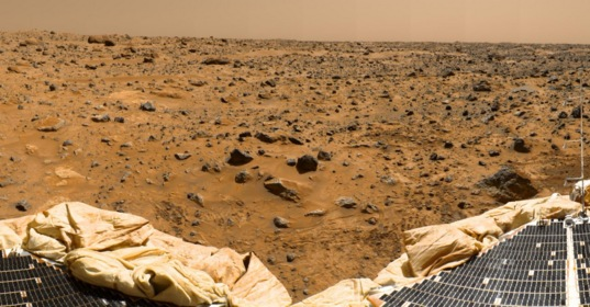 Pathfinder's view of the Martian surface