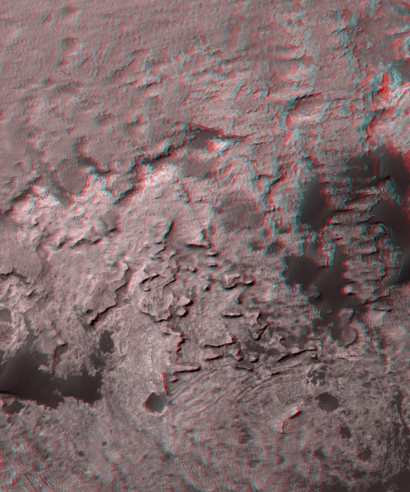 3d view of the Murray Buttes, Gale crater, Mars (wide)