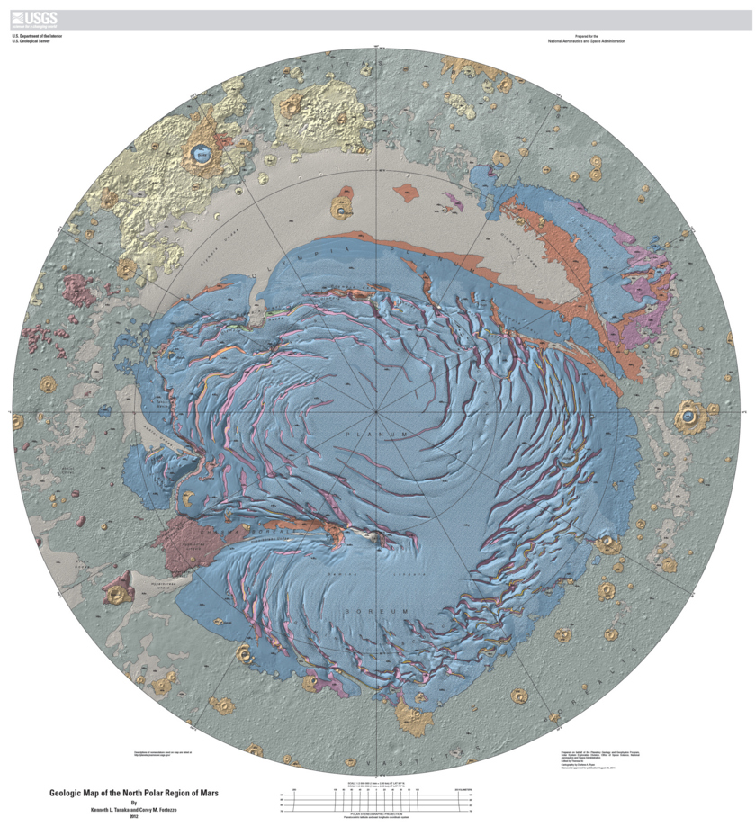 Geologic Map of the Martian North Pole