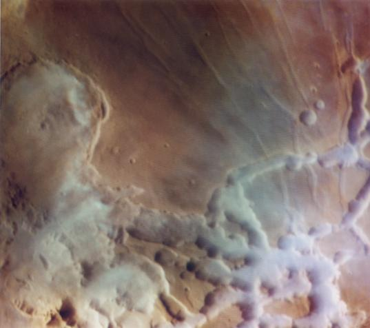 Water Ice Fog in Noctis Labyrinthus