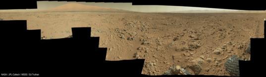 Curiosity panorama, sol 468