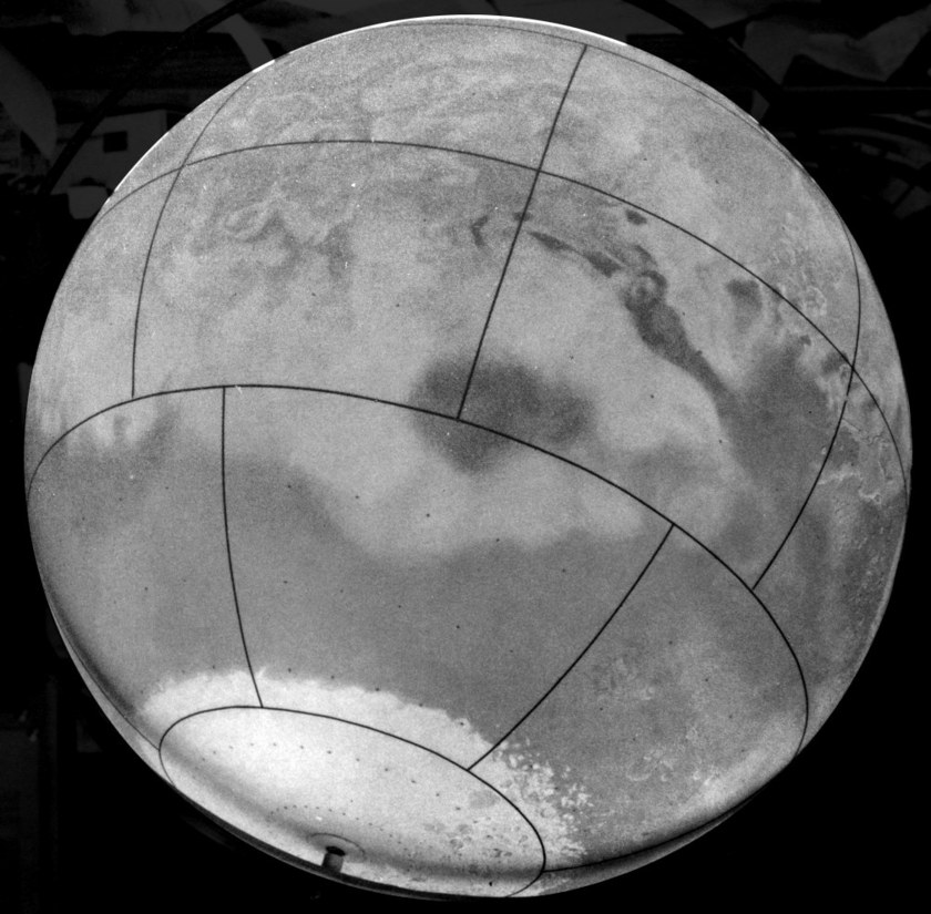Don Davis' Mariner Mars globe (Solis Lacus side)