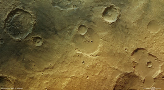 Highlands near Tagus Valles - ancient evidence for water in a Martian desert