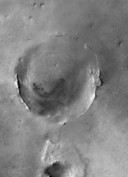Odyssey THEMIS map of Endeavour crater, Mars