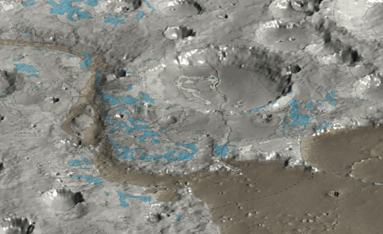 Clay-rich exposures near Mawrth vallis, Mars