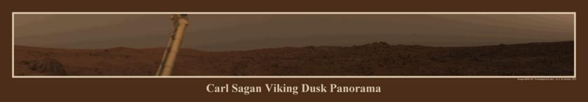 Carl Sagan Viking dust panorama
