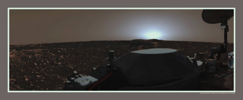 Sunset over the Viking Lander