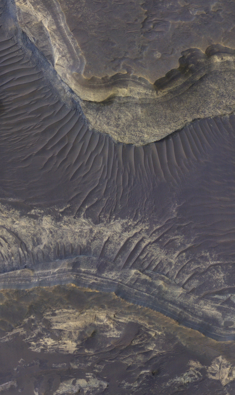 Layered rocks northeast of Hellas basin