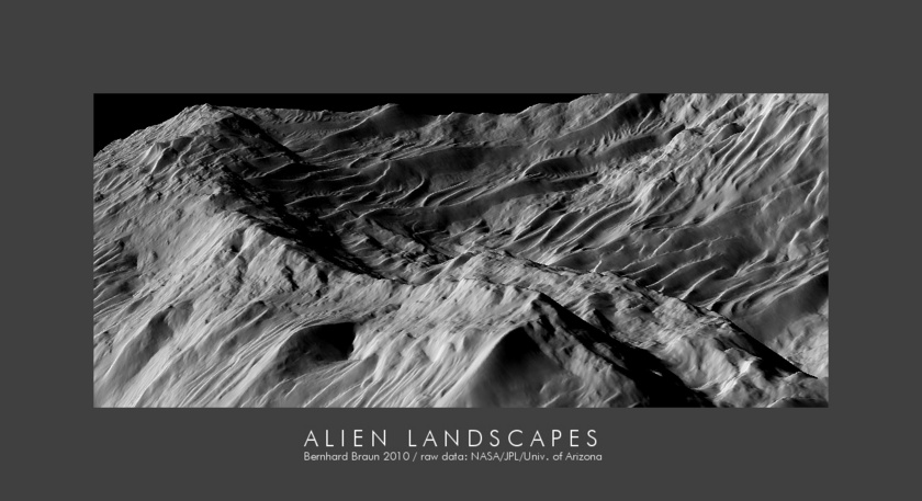 Martian landscape from photoclinometry