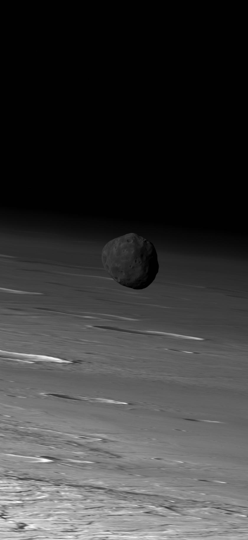 Phobos over Mars