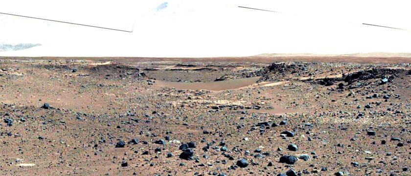 Mastcam-100 view of Dingo Gap, sol 518