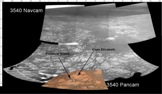 Opportunity's front view, sol 3556
