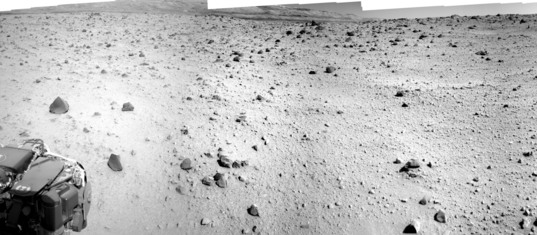 The not-drive direction view, Curiosity sol 560