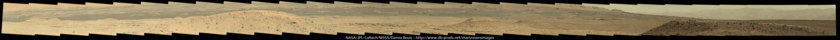 Mastcam-100 panorama of the dune fields of Gale crater from Kimberley, Curiosity sol 582
