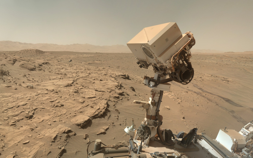 Curiosity sol 613 MAHLI self-portrait: desktop background