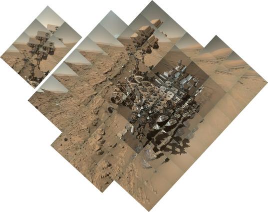 Curiosity sol 613 MAHLI self-portrait: component images