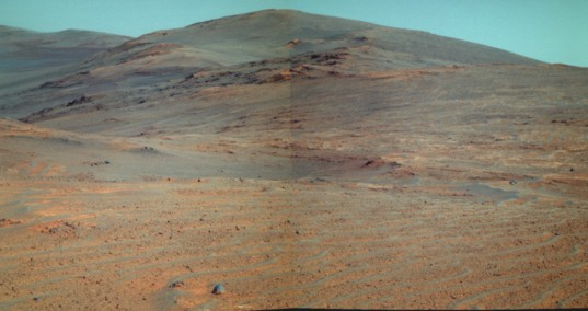 Looking south along the rim of Endeavour crater