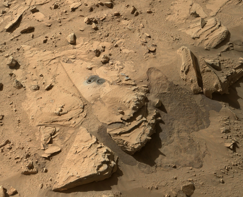 Windjana site after drilling, Curiosity sol 627