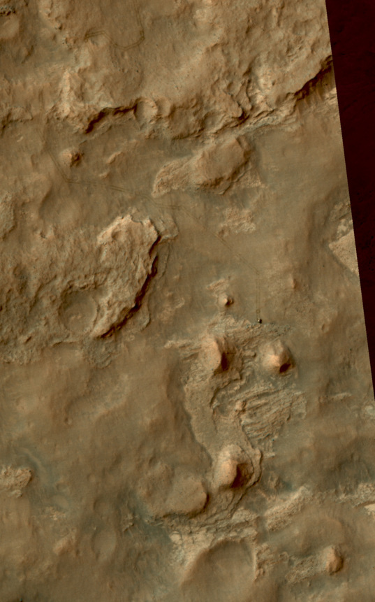 Curiosity at the north edge of the Kimberley, sol 581
